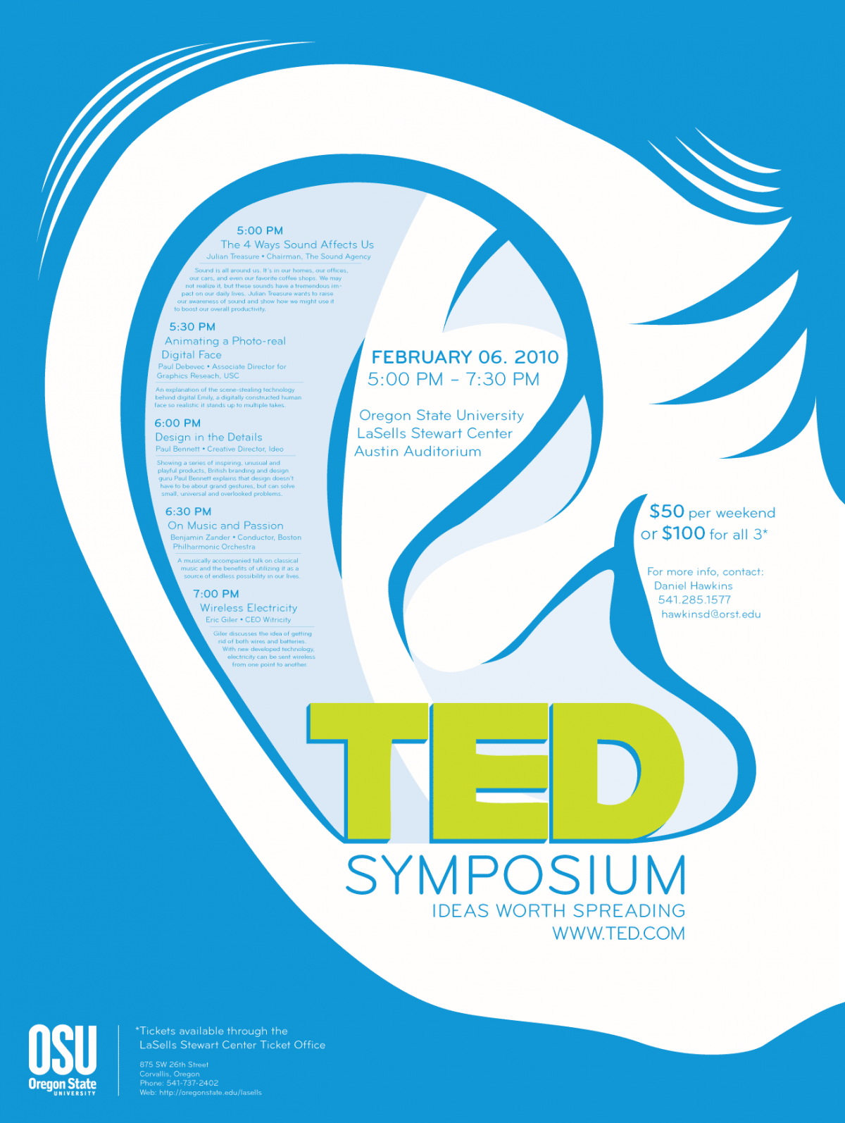 Poster design for symposium - Ted Symposium Poster February 5 2014 Hawkinsd Graphic Design 0 Art327_proj_3_poster_final